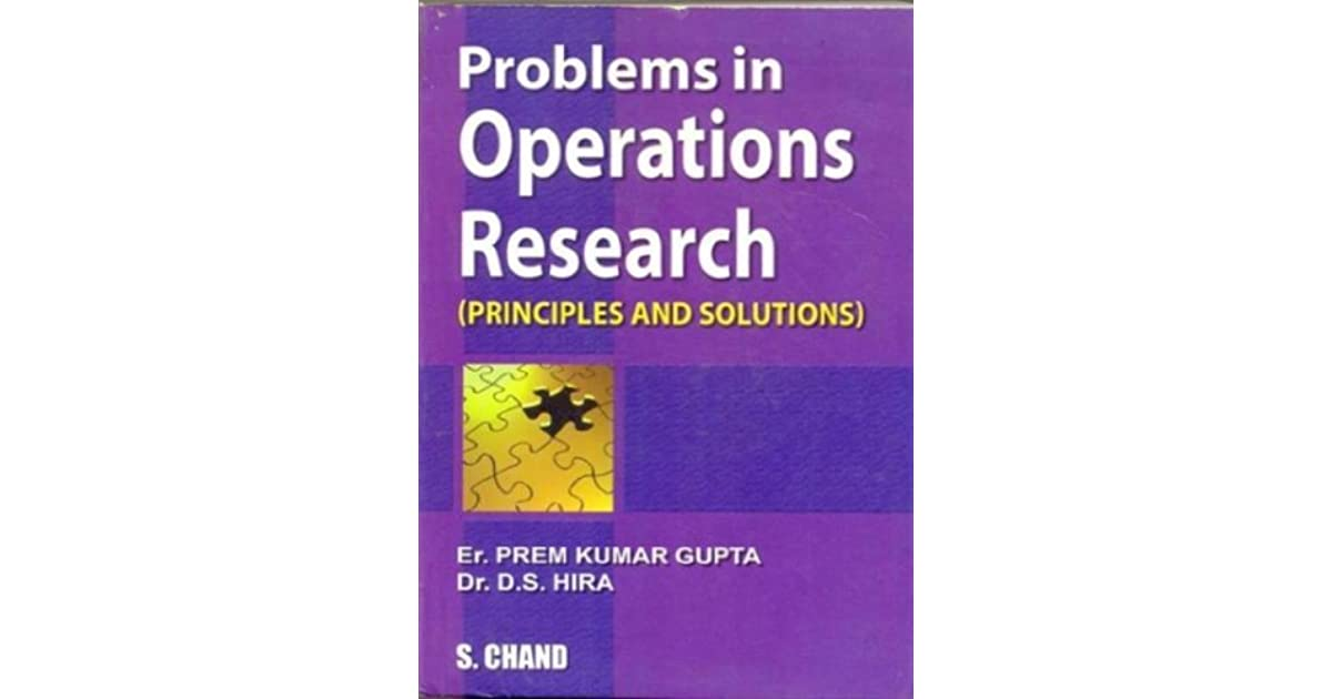 Operation Research Hira Gupta Book