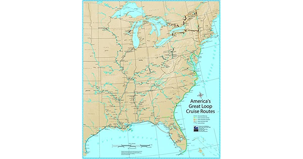America S Great Loop Cruise Mini Map By Ron Stob