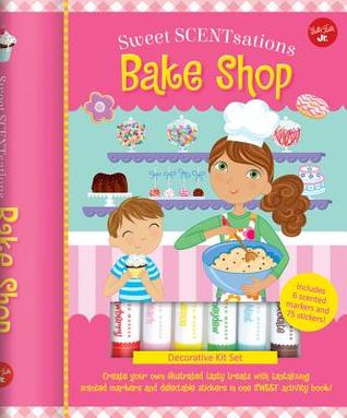 Bake Shop: Create your own illustrated tasty treats with tantalizing scented markers and delectable stickers in one SWEET activity book! - Includes 6 scented markers and 75 stickers!