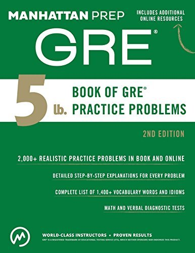 manhattan prep gre book of gre practice problems