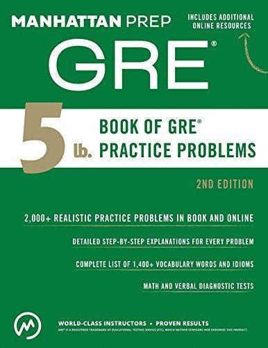 manhattan prep gre book of gre practice problems