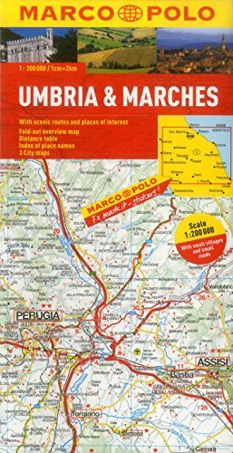 Umbria and the Marches Marco Polo Map  by  Marco Polo