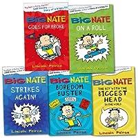 Big Nate Collection 5 Books Set Pack RRP: 28.95 (Big Nate Goes For Broke, Bi...