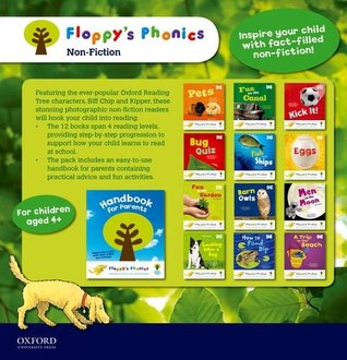 Floppy's Phonics Non-Fiction 13 Books set With Handbook For Parents (Pets,fun on canal, kick it , bug quiz, fish and ships , eggs,garden, barn owls,men on the moon,after a dog, pond dip, a trip to the beach)