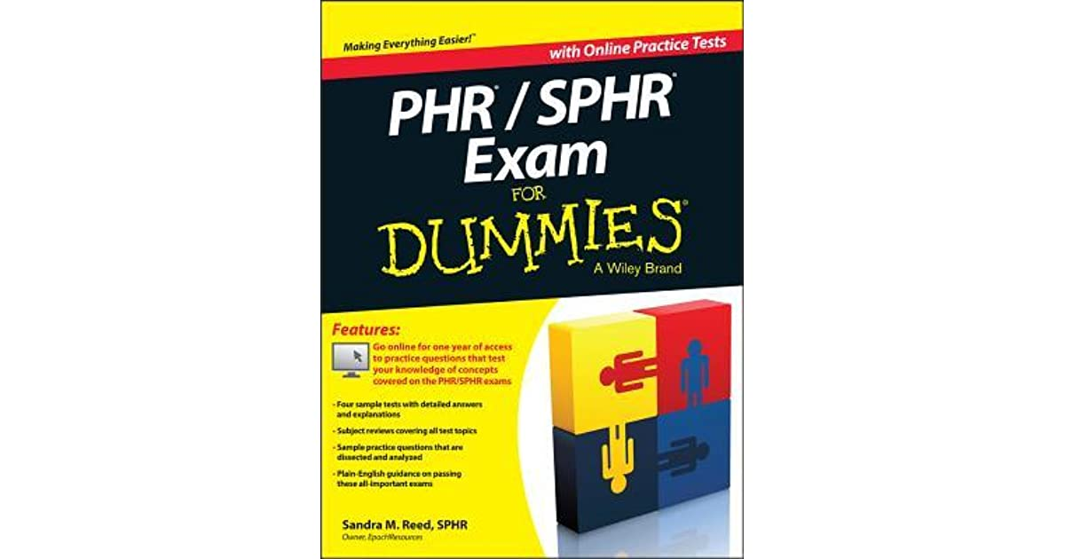 Phrsphr Exam For Dummies By Sandra M Reed