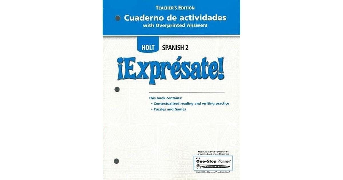 Cuaderno De Actividades With Overprinted Answers Teacher S