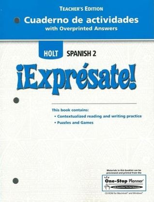 Cuaderno De Actividades With Overprinted Answers Teacher S