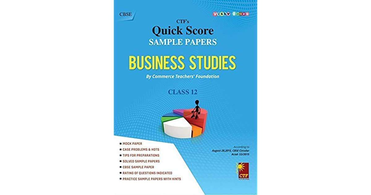 sample papers business studies by commerce teachers foundation