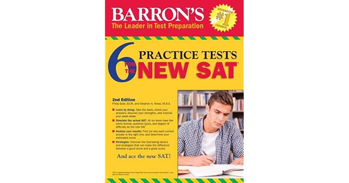 Barrons 6 new sat practice tests by sharon weiner green fandeluxe Choice Image