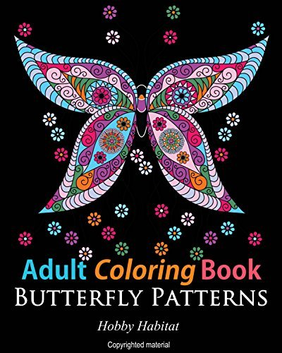 Adult Coloring Books - 31 Gorgeous Butterfly Stress Releiving Designs - Hobby Habitat