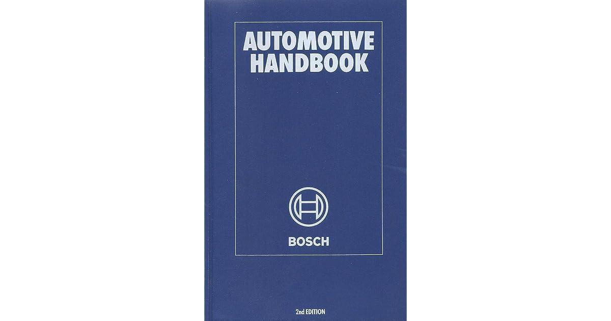 Bosch Automotive Handbook Ebook