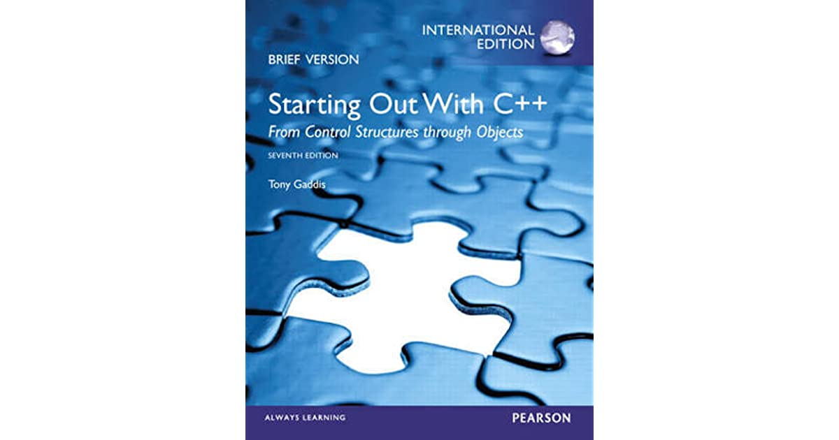 Starting Out With C By Tony Gaddis