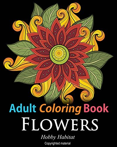 Adult Coloring Books – Flower Sample Patterns