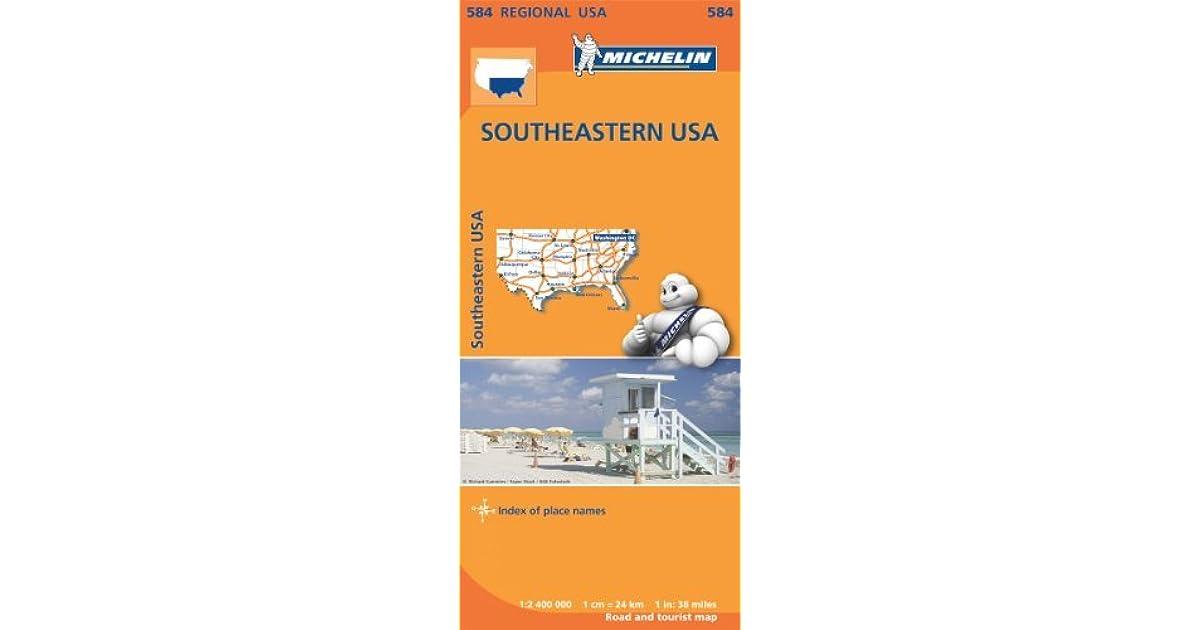 Michelin Regional Map 584 Southeastern USA