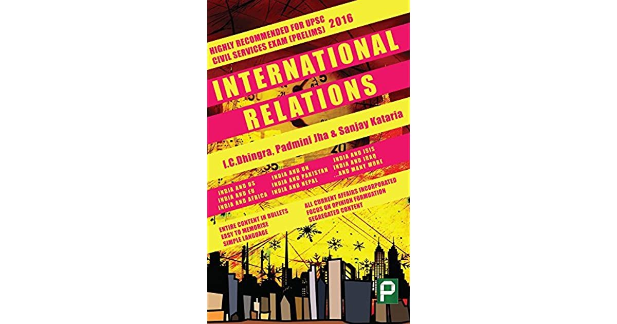 Books On International Relations For Upsc