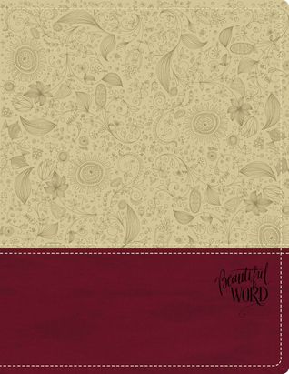 KJV, Beautiful Word Bible, Leathersoft, Tan/Pink, Red Letter Edition: 500 Full-Color Illustrated Verses