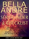Bella Andre: Series Reading Order & Checklist: Includes The Sullivans, The Morrisons, Married in Malibu Series, The Maverick Billionaires, and more