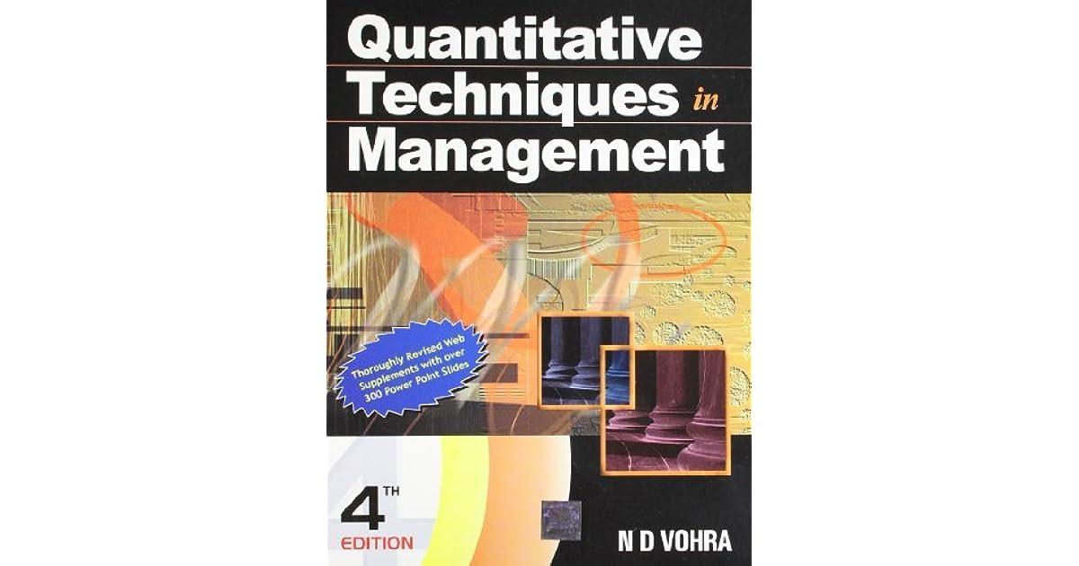 Quantitative Techniques In Management Ebook