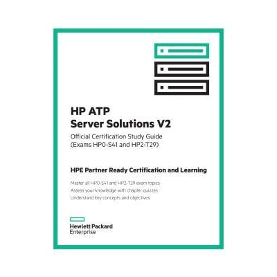 HP Atp Server Solutions V2 Official Certification Study Guide (Exam ...
