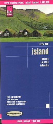 Iceland 1:425 000 Travel Map, waterproof, GPS-compatible REISE, 2013 edition