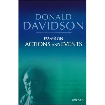 davidson essays on actions and events pdf Download and read essays on actions and events philosophical essays of donald davidson essays on actions and events philosophical essays of donald davidson.