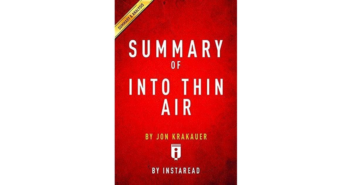 into thin air analysis