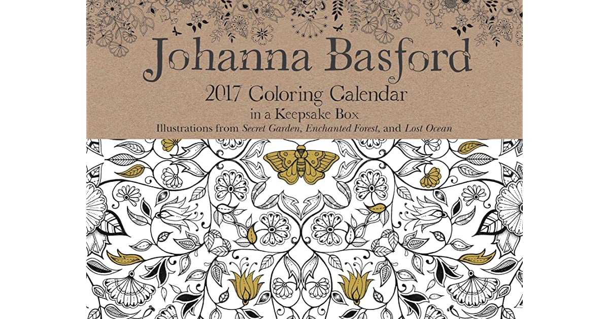 Johanna Basford 2017 Coloring Day To Calendar By NOT A BOOK