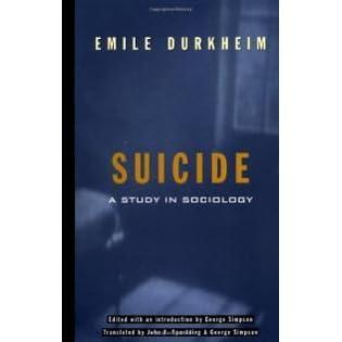 emile durkheim study of suicide