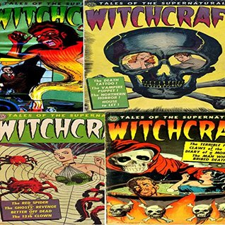 Witchcraft. Issues 1, 2, 3 and 4. Tales of the supernatural. The red spider, ghosts revenge, terrible face and claws of the cat. Digital Sky Comic Compilations Paranormal, Horror and Mystery