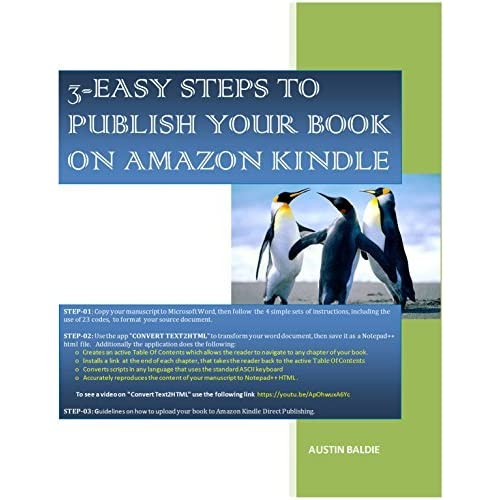 3 Easy Steps To Publish Your Book on Amazon Kindle by Austin