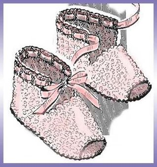 Open-Toed Baby Booties Shoes Slippers Vintage Crochet Pattern EBook Download (Needlecrafts)