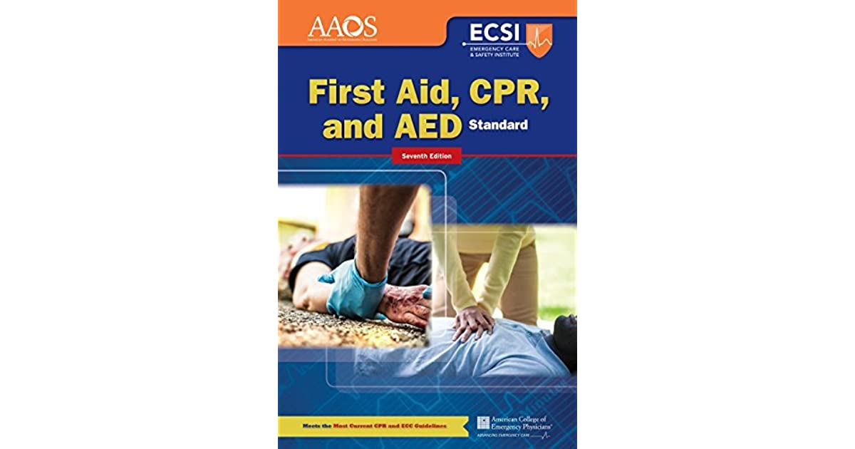 Standard First Aid Cpr And Aed By American Academy Of Orthopaedic