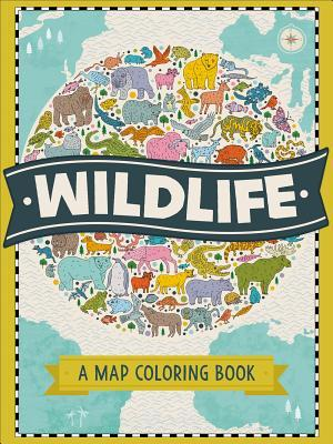 The Map Coloring Book: Wildlife by Natalie Hughes
