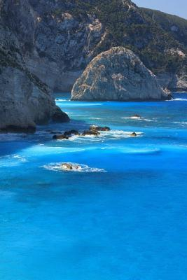 Beach at Porto Katsiki Ionian Island of Lafkas Greece Journal: 150 Page Lined Notebook/Diary  by  NOT A BOOK