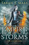 Book cover for Empire of Storms (Throne of Glass, #5)