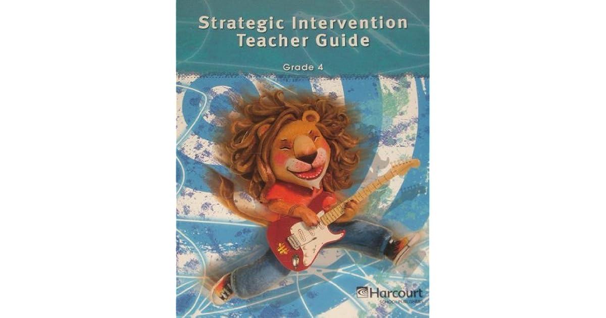 Storytown Strategic Intervention Teacher S Guide Grade 4