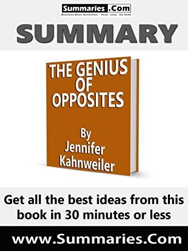The Genius of Opposites - Jennifer B Kahnweiler