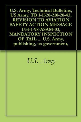 U.S. Army, Technical Bulletins, US Army, TB 1-1520-210-20-43, REVISION TO AVIATION SAFETY ACTION MESSAGE UH-1-98-ASAM-03, MANDATORY INSPECTION OF TAIL ... U.S. Army, publishing, us government,