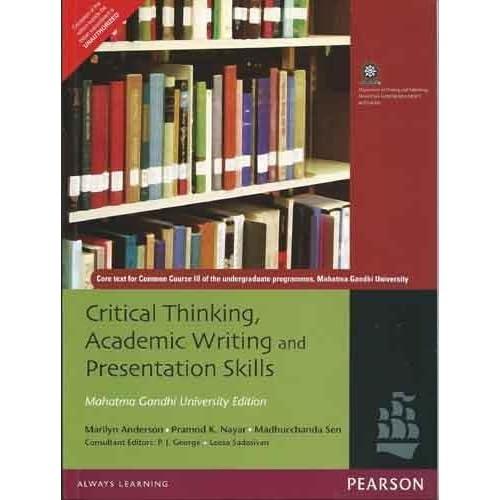 Critical Thinking Academic Writing And Presentation Skills