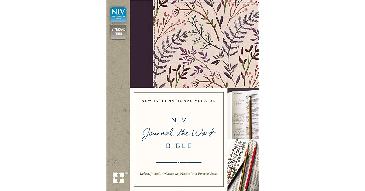 niv journal the word bible large print hardcover black reflect journal or create art next to your favorite verses