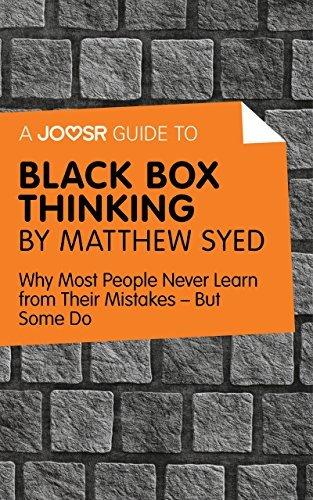 Black Box Thinking by Matthew Syed