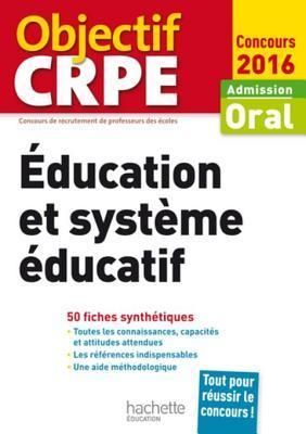 Crpe En Fiches: Education Et Systeme Educatif - 2016