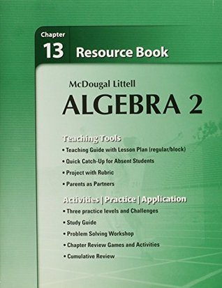 Holt McDougal Larson Algebra 2: Resource Book: Chapter 13 by