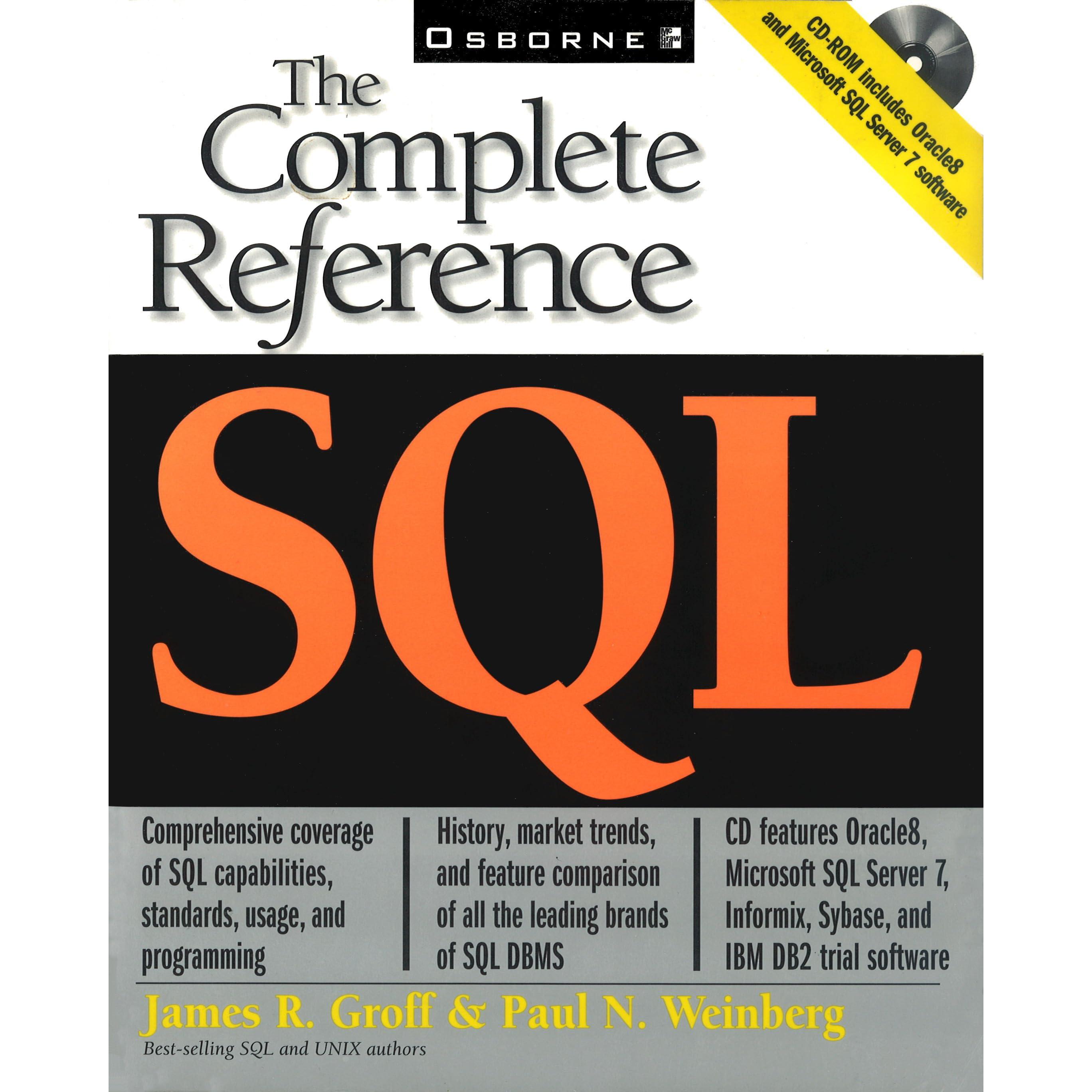 SQL SERVER COMPLETE REFERENCE DOWNLOAD
