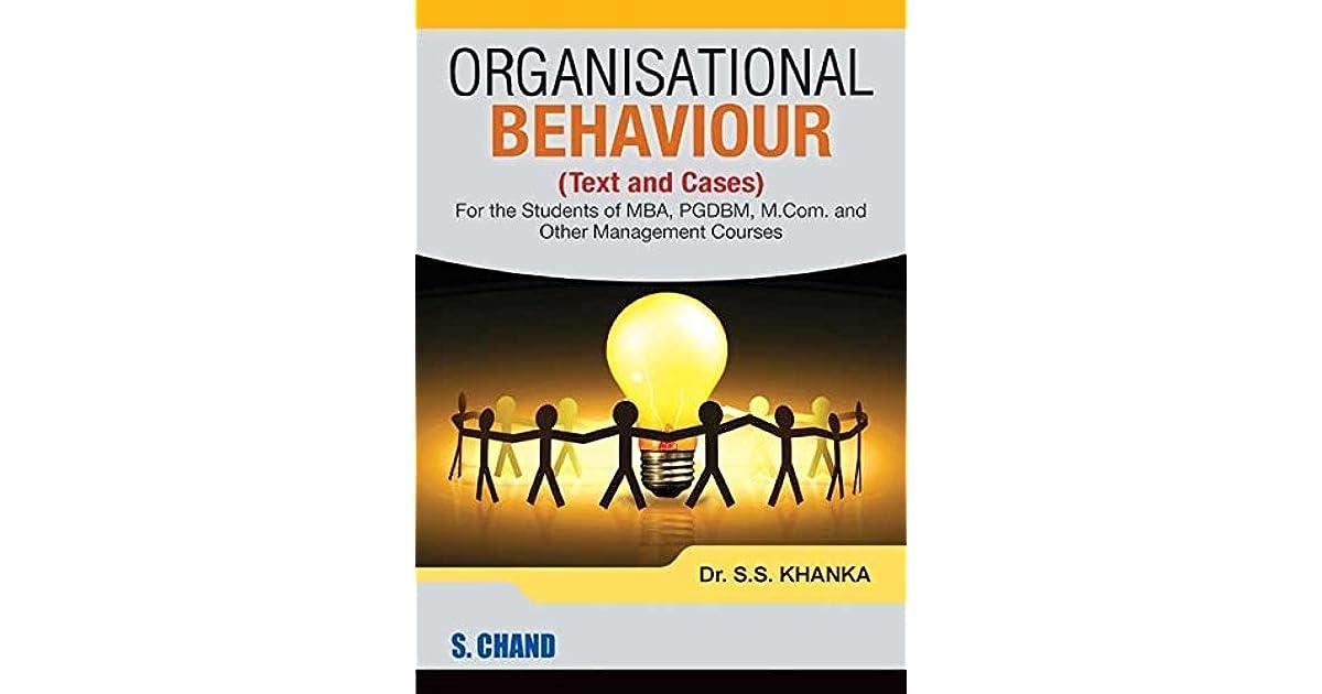 Organisational Behaviour Book For Mba