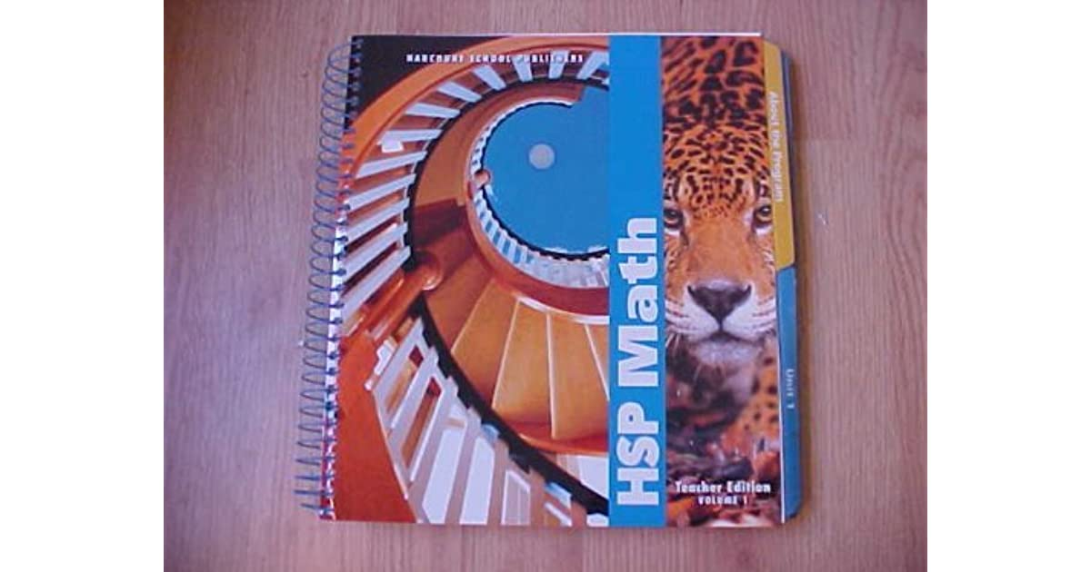 Harcourt School Publishers Math Teacher S Edition Vol 1