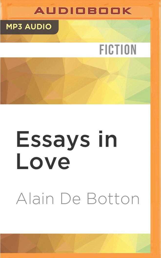 Essays on love by alain de botton
