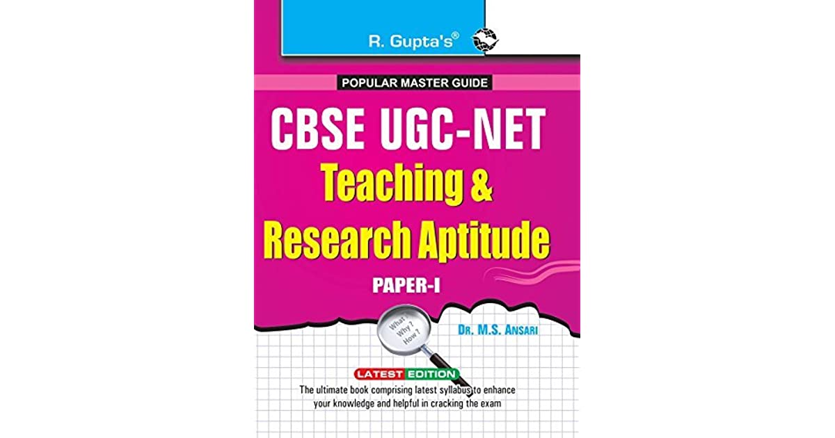Ugc Net Teaching And Research Aptitude Book