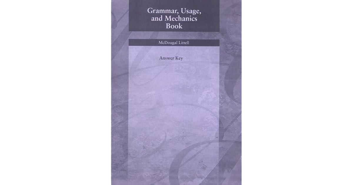 Grammar Usage And Mechanics Book Answer Key Grade 11 By