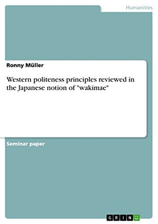 """Western politeness principles reviewed in the Japanese notion of """"wakimae"""""""